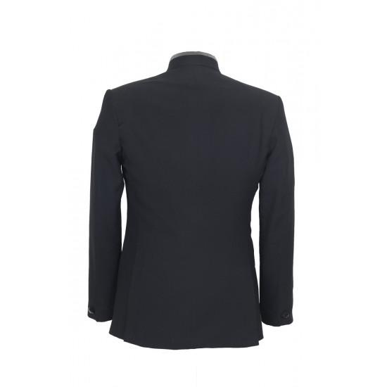 Matte Black High Neck Designer Suit