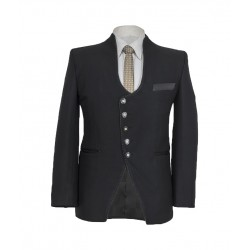 Black 5 Buttoned Designer Two Piece Suit